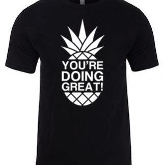 YDG Monotone Pineapple Unisex Black T-shirt