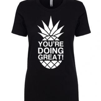 YDG Monotone Pineapple Women's Black T-shirt