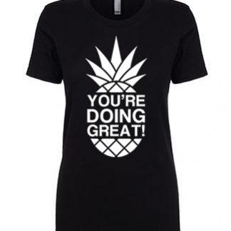 YDG Monotone Pineapple Women's Black T-shirt