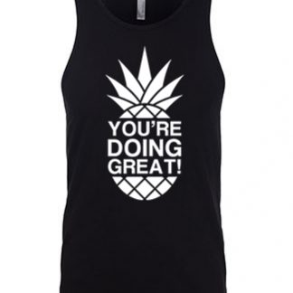 YDG Pineapple Unisex Black Tank Top