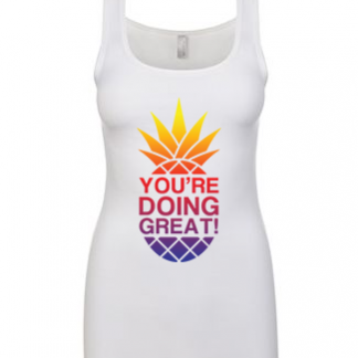 YDG Sunset Pineapple Women's White Tank Top