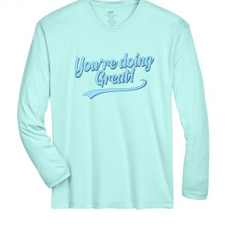 Retro Script Sea Frost Dri Fit