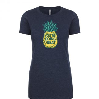 You're Doing Great Pineapple v2 Women's Navy Front